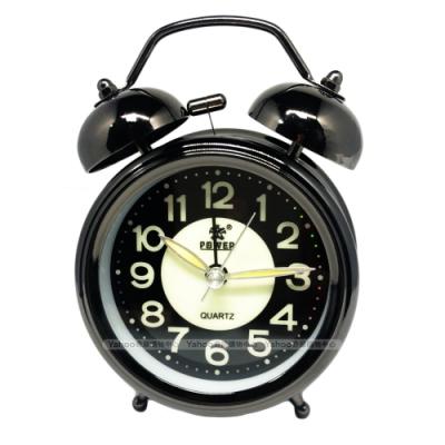 POWER霸王鐘錶-懷舊復古小鬧鐘-夜空黑-TD6630BK-12CM