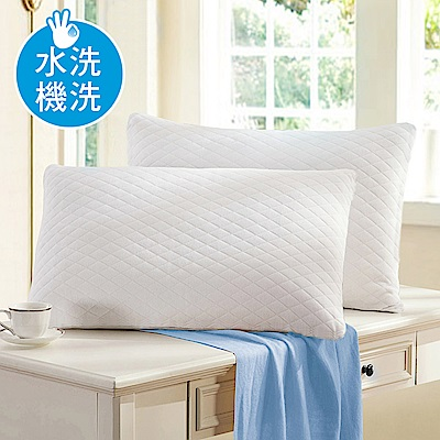 澳洲Simple Living 防蹣抗菌可水洗針織透氣舒柔枕-二入(台灣製)