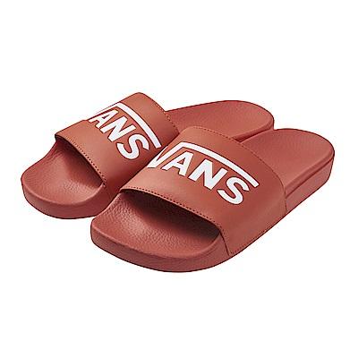 (男)VANS Slide-On 素面休閒拖鞋*紅色