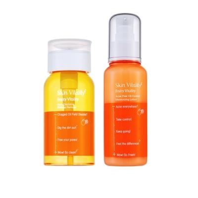Skin Vitality 膚能量 果然淨化毛孔卸妝水 150mL+ 果然控油抗痘保濕乳 100mL