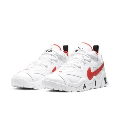 NIKE  明星款 球鞋 包覆 休閒 運動鞋  男鞋  白紅  CJ5395100  AIR BARRAGE LOW EMB