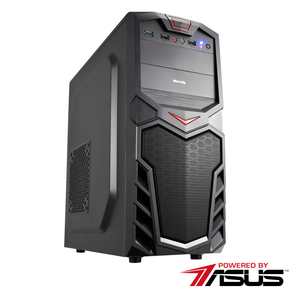 華碩B365平台 [魔火戰士]i5六核GT710獨顯SSD電玩機