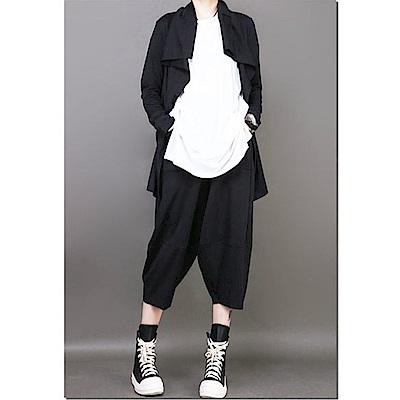 暗黑風外套前短後長不規則修身上衣長袖開衫-設計所在 MP1791