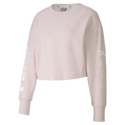PUMA-女性基本系列Rebel圓領衫-水玫瑰-亞規