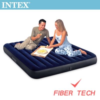 INTEX 經典雙人特大(新款FIBER TECH)充氣床墊-寬183cm(64755)