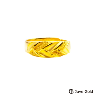 Jove Gold 漾金飾 刻愛黃金女戒指
