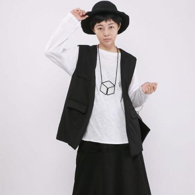 設計所在Style-馬甲女外穿寬鬆方領百搭開衫短版外套