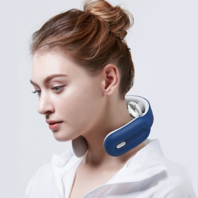 沛莉緹Panatec智能肩頸按摩儀-藍K-375B 沈夢辰推薦 低頭族神器