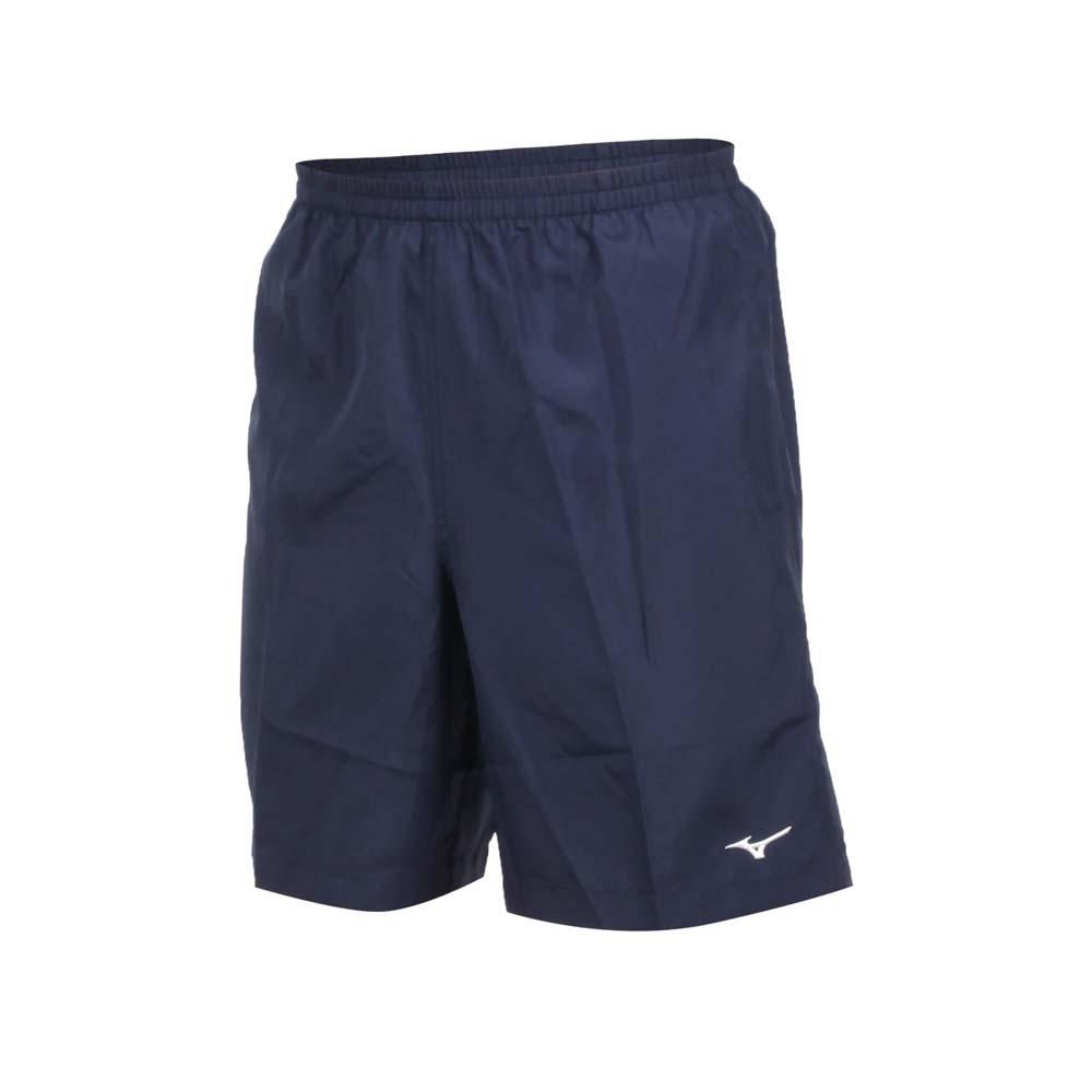 MIZUNO 男路跑短褲-五分褲 運動短褲 訓練 慢跑 美津濃 丈青白