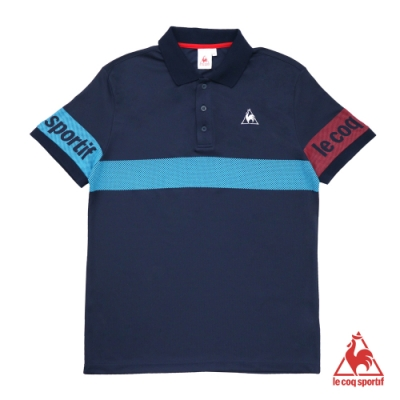 法國公雞牌短袖POLO衫 LOL2114739-男-藏青