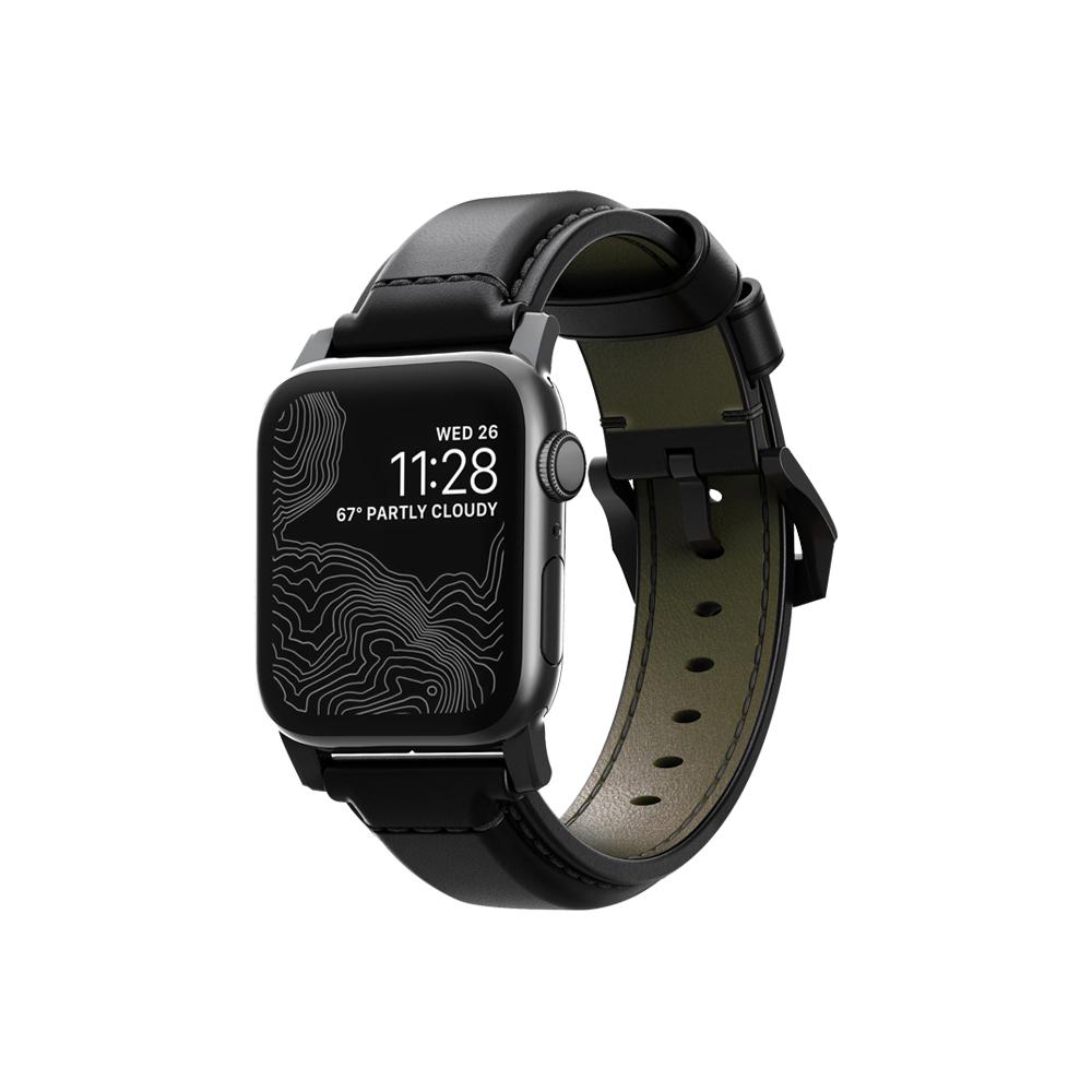 美國NOMADxHORWEEN Apple Watch 42/44 奢華黑馬革錶帶-經典黑 @ Y!購物