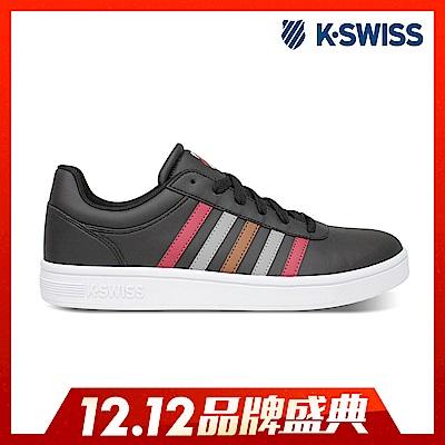 K-SWISS Court Cheswick S休閒運動鞋-男-黑/紅/灰