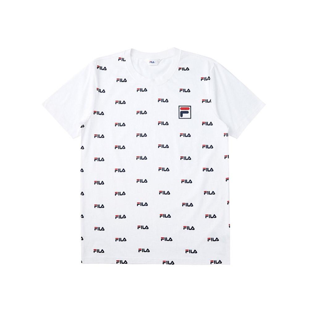 FILA 短袖圓領T恤合身版-白色 1TEV-1516-WT