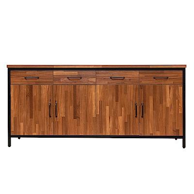D&T 德泰傢俱 格萊斯積層木工業風6尺餐櫃-181.3x45.3x84.2cm