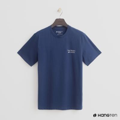 Hang Ten - 簡約雙面logo個性圖樣短T- 藍