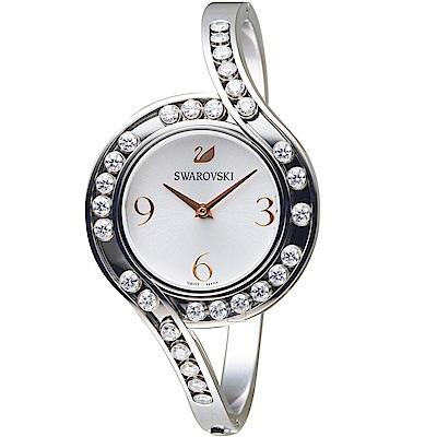 SWAROVSKI施華洛世奇CRYSTALS LOVELY時尚腕錶(5452492)銀色