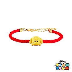 Disney迪士尼TSUM TSUM系列金飾 黃金編織手鍊-布魯托款
