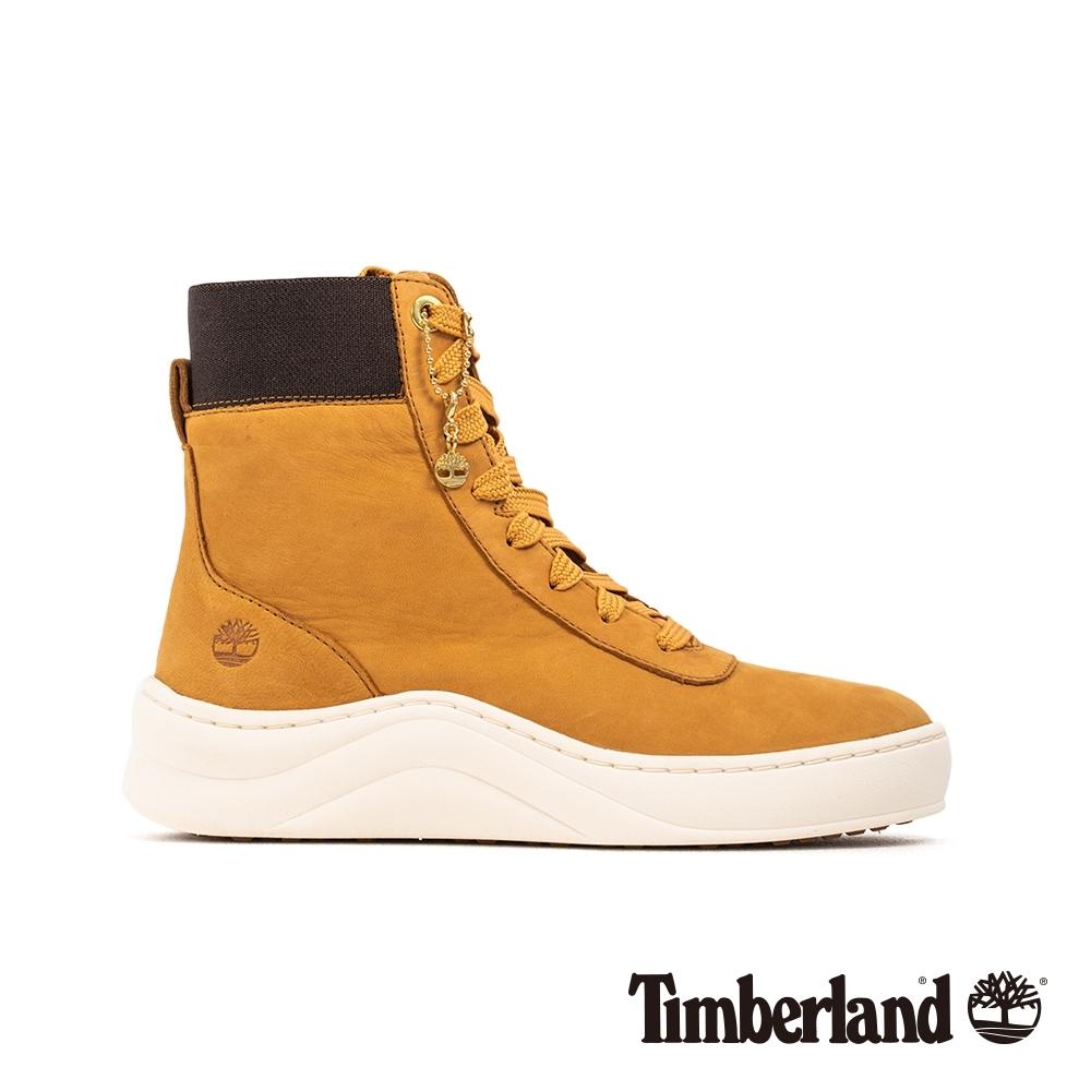 Timberland 女款小麥色磨砂革厚底高筒運動鞋|A22VP
