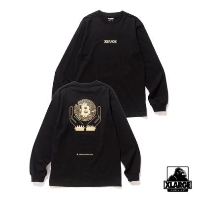 XLARGE L/S TEE BITCOIN長袖T恤-黑