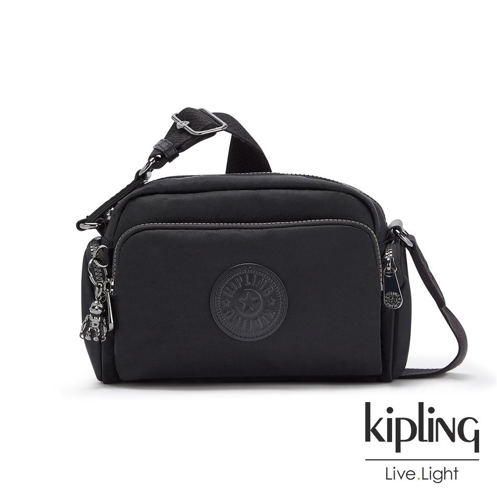 Kipling 極致低調黑隨身斜背包-JENERA S