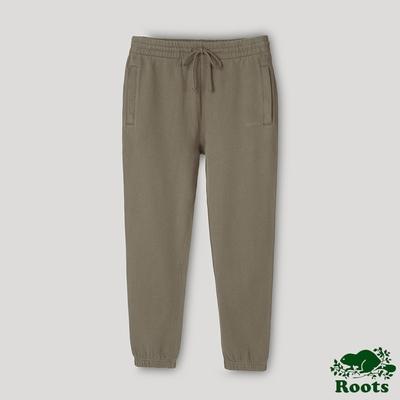 Roots中性- ONE系列 有機棉刷毛長褲-棕色