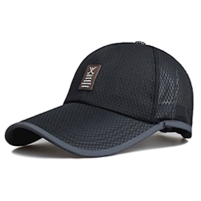Midailuo網眼透氣鴨舌帽棒球帽遮陽防曬帽(中間貼皮標)BQM-431