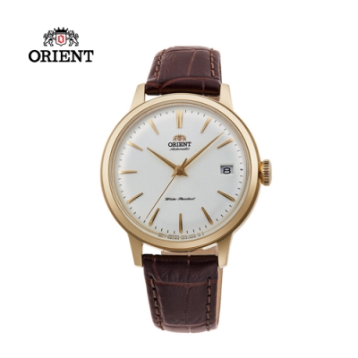 ORIENT 東方錶 DATEⅡ系列 機械錶 皮帶款 金色 RA-AC0011S