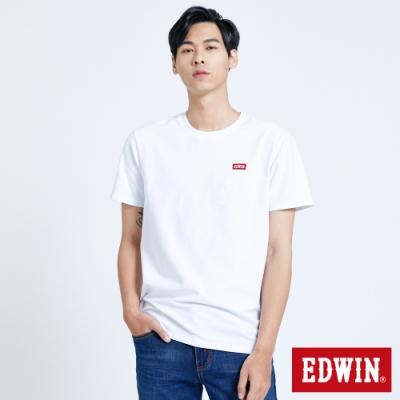 EDWIN 第七代 基本LOGO 短袖T恤-男-白色