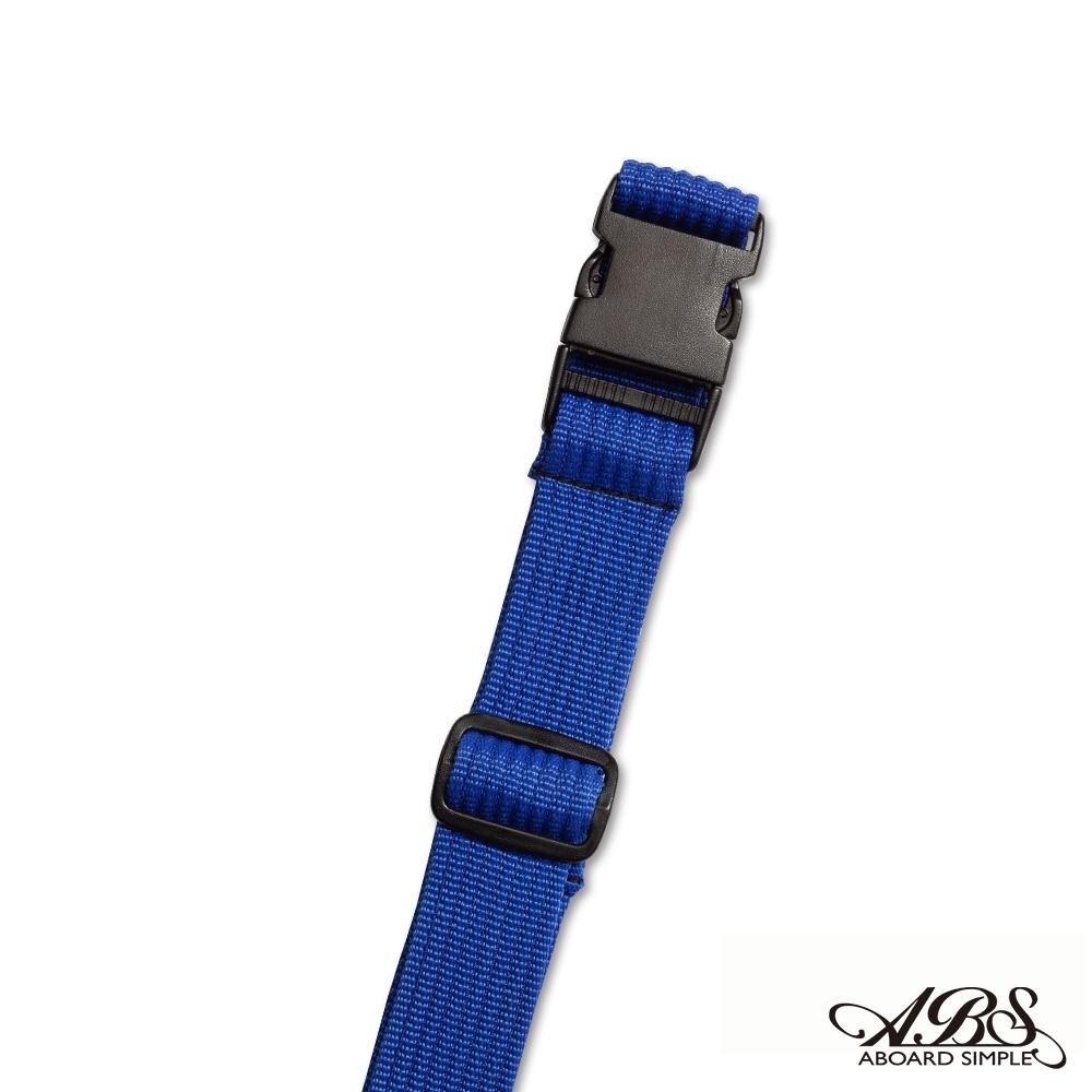 ABS愛貝斯 台灣製造旅行箱束帶單入 捆綁帶 可調式行李打包帶(寶藍)66-058D2