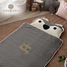 【The zazak】 韓國手工製攜帶式兒童睡袋加大版- 灰狼款