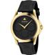 GUCCI 古馳 G-Timeless 雙G皮紋手錶(YA1264034)x黑金x39mm product thumbnail 1