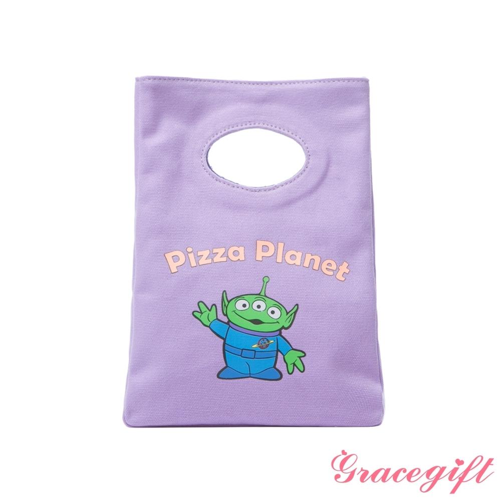 Disney collection by gracegift-玩總三眼怪立體帆布便當袋 紫