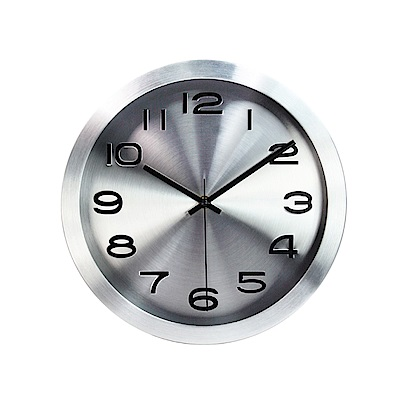 KINYO 12吋金屬質感靜音掛鐘/時鐘(CL-161)鋁合金邊框