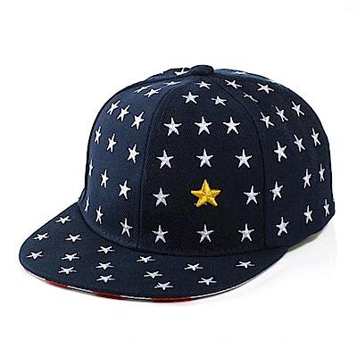 iSFun 星星點點 兒童紅條紋棒球帽 深藍