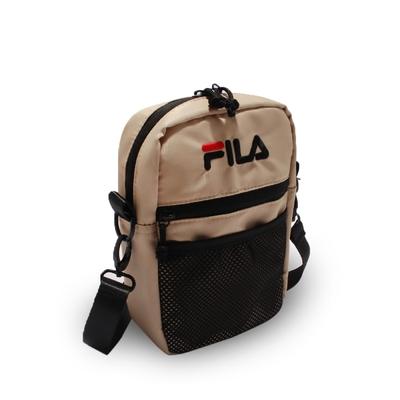 Fila 斜背包 Pocket Shoulder Bag 斐樂 外出 輕便 手機包 穿搭 淺褐 黑 BMV7009KK