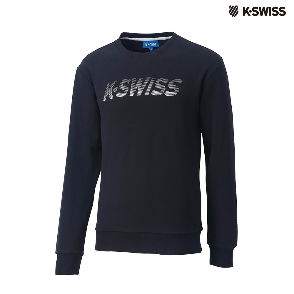 K-SWISS Crew Neck Sweatshirt圓領長袖上衣-女-黑