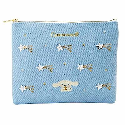 Sanrio 大耳狗喜拿刺繡及水鑽鑲飾扁平收納包(流星)
