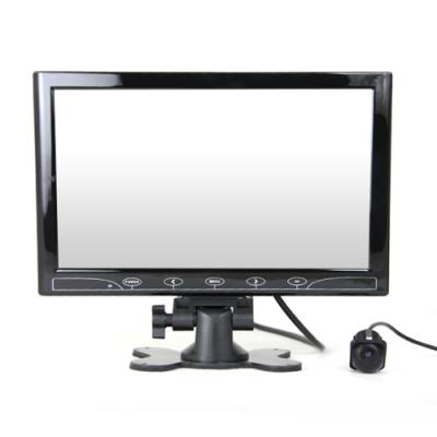 10.1吋螢幕顯示器+小草帽ZA905 崁入式倒車顯影 孔徑21mm 車用鏡頭-快