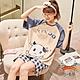 悠美學-日系精梳棉居家撞色可愛牛圖案造型套裝-杏色(M-2XL) product thumbnail 1