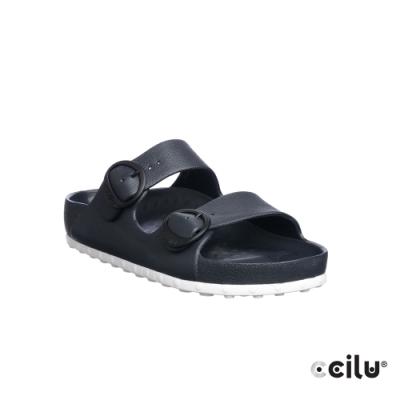 CCILU 經典雙帶防水拖鞋-男款-301264021黑色
