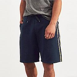 海鷗 Hollister HCO 經典電繡標誌休閒運動短棉褲-深藍色