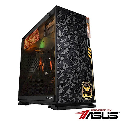 華碩H370平台[迷彩鬥士]i5六核GTX1080獨顯SSD電玩機