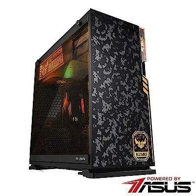 華碩H370平台[迷彩烈士]i5六核GTX1080TI獨顯SSD電玩機