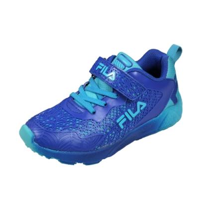 FILA 輕量慢跑鞋 藍 大童(6~12歲) 3-J407U-333