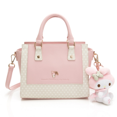 Melody聯名- 手提包附長背帶 泡泡派對系列-粉色