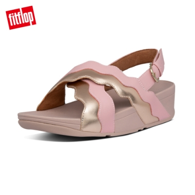 FitFlop RHYLEE WAVE STRAP BACK-STRAP SANDALS後帶涼鞋-女(柔和粉)