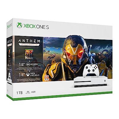 Xbox One S 1TB冒險聖歌Anthem同捆組