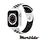 Morbido蒙彼多Apple Watch 6/SE 40mm透氣矽膠運動錶帶 黑白 product thumbnail 1
