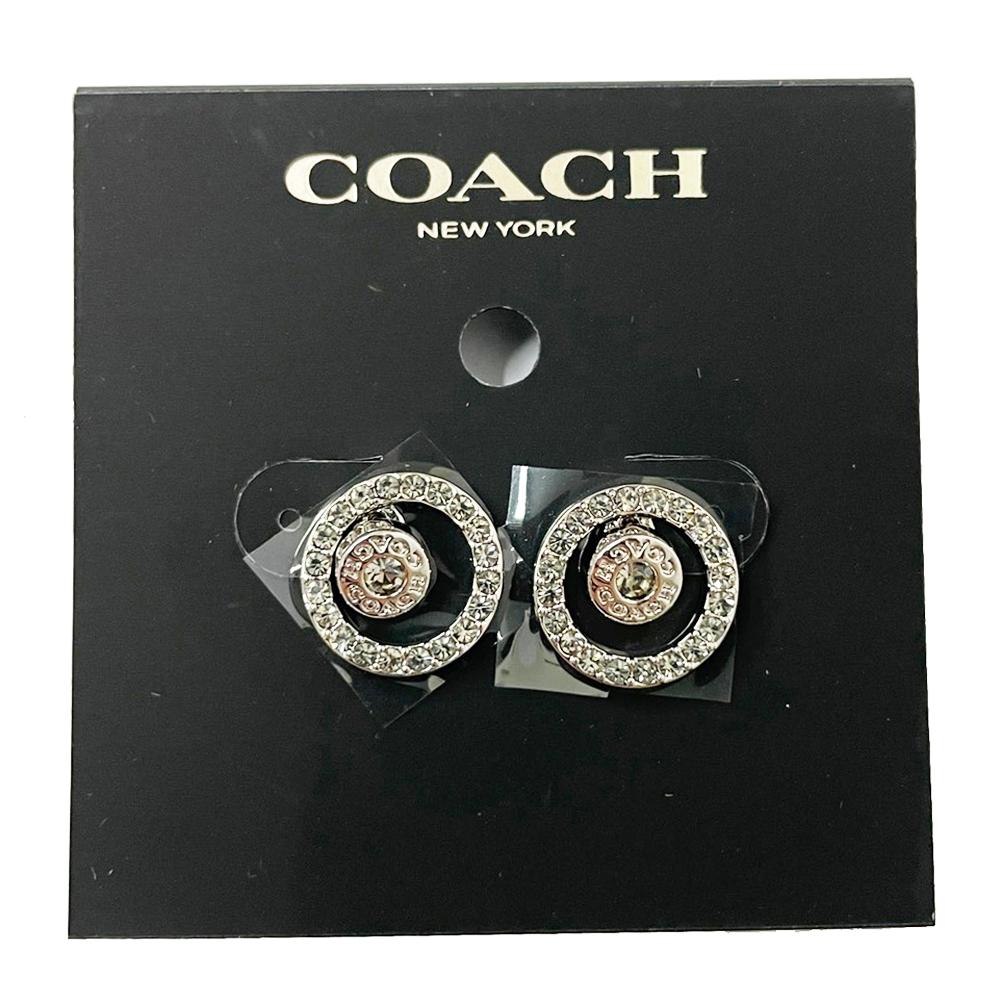 【限時下殺】COACH 新款仿鑽耳針式耳環(多款供選) product image 1