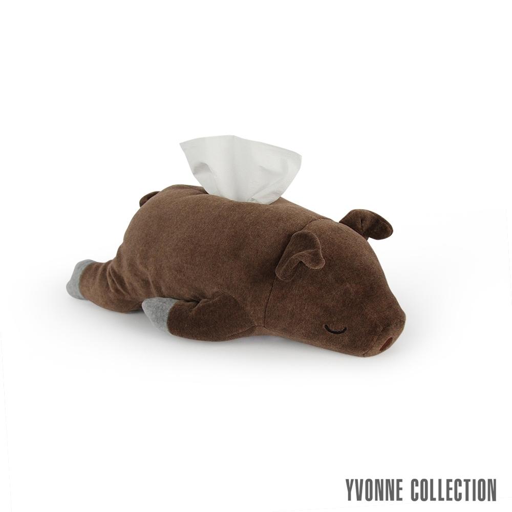 Yvonne Collection 豬豬衛生紙套-深咖啡